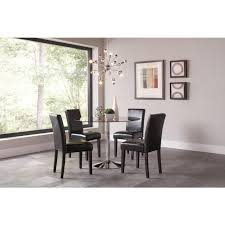 large picture of coaster furniture clemente 103000 round dining table with glass top