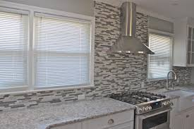 cheap kitchen backsplash ideas. Glass Window Cheap Kitchen Backsplash Ideas Nice Gray Accent Walls Color Schemes White Lacquered Wood Island Beige Tile Floor Wi Brown Pendant Lamp