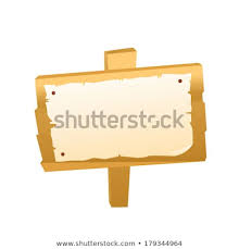 Signboard Template Blank Signboard Template Background Others Stock Vector Royalty