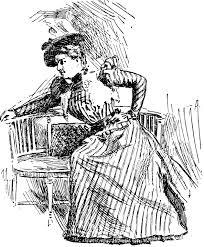 座る女性 肖像画 ヴィンテージイラスト Pixabayの無料ベクター素材