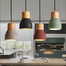 nordic retro industria cement pendant lights personalized bar cafe room bedside hanging lights modern simple pendant lamp