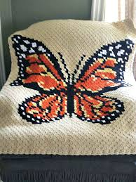 Afghan Crochet Patterns Delectable CornertoCorner Butterfly Afghan Crochet Pattern