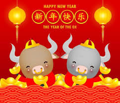 Wishing you a happy new year with the hope that you will have many blessings in the year to come. Happy Chinese New Year 2021 Greeting Card Cute Little Cow Holding Chinese Gold Sponsored Chinese New Year Greeting Chinese New Year Chinese New Year Card