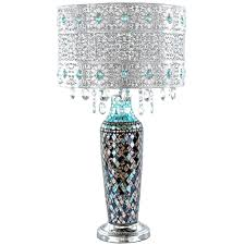Metal Mosaic Hanging Glass Crystals Silver 24.25-inch High Table Lamp -  Free Shipping Today - Overstock.com - 19456986