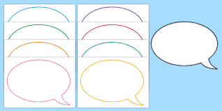 Template For A Speech Editable Speech Bubble Templates Primary Resources