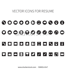 Resume Icons Awesome 5020 Vector Icons Resume Stock Photo Photo Vector Illustration