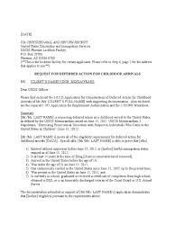 Daca Cover Letter Template Deferred Action For Childhood