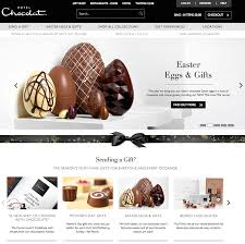 as befits the brand hotel chocolat s homepage is a more sophisticated affair than that of thorntons