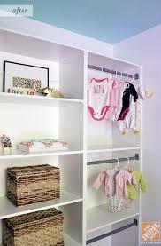 Closet organization ideas: A darling nursery closet using Martha Stewart  closet organization system