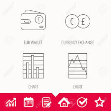 Currency Exchange Chart Currency Exchange Chart And Euro Wallet Icons Statistics Graph