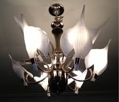 glass calla lily leaf chandelier