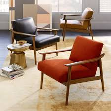 midcentury modern chair. awesome arm chair wood with mid century leather show west elm midcentury modern