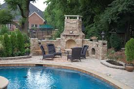 firerock 36 arched outdoor fireplace kit cultured stone country ledgestone chardonay