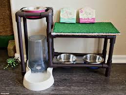 diy cat food stand
