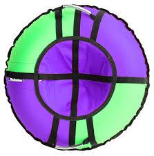 Купить <b>Тюбинг Hubster Ринг Хайп</b> фиолетовый-салатовый 100см ...