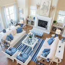 ideas decorating with blue accessories for living room