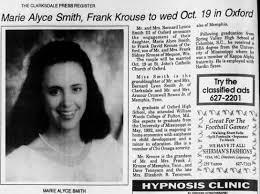 Marie Alyce Smith & Frank David Krouse Wedding Announcement in Newspaper -  Newspapers.com