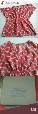 Boden 100 Silk Polka Dot Blouse Womens 100 Silk Polka Dot