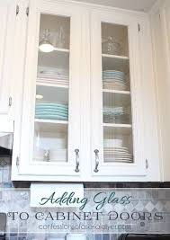 how to add glass to cabinet doors tutorial shows how to cut the panel out