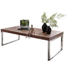 Wohnling Couchtisch Guna Massiv Holz Sheesham 120 Cm Breit