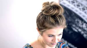 Topknot Hair Style Messy Top Knot For Shortmedium Hair Tutorial Milabu Youtube 1984 by wearticles.com
