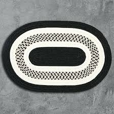flowers bay black braided rug mills rugs and white oval