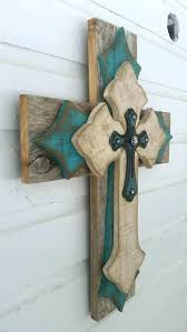 decorative wall crosses home decoration crosses small turquoise ivory distressed reclaimed wood wall cross wood wall decorative wall crosses