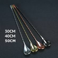 <b>30</b> см/40 см/50 см Коктейльная <b>ложка</b> для перемешивания, <b>ложка</b> ...