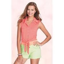 Delias Clothing Size Chart Flirty Lace Delias Tied Crop Top