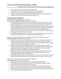 Social Work Resume Template 20 Msw Resume Sample 16 Social Work