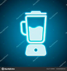 Neon Light Blender Simple Blender Icon Electronic Kitchen Mixer Neon Style
