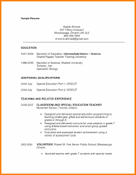 Paraprofessional Resume Samples Elegant Special Education Teacher