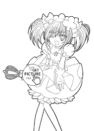 Anime Manga Coloring Pages Motivate Shugo Chara Color Frabbi Me