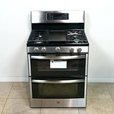gas ran double oven stainless steel ge profile slide in range manual n91