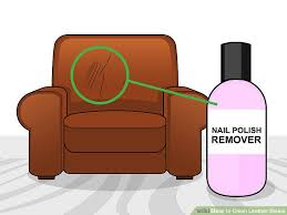how to remove makeup from leather couch