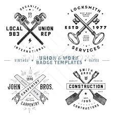 Vintage Logo Vector Vector Retro Union And Vintage Logo Template Set Snap Vectors