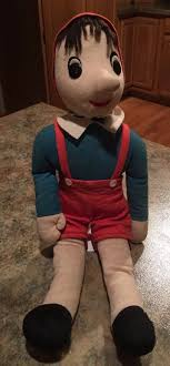 Stuffed Animal Display Stand Vtg USA Douglas Cuddle Toys Cloth Plush Pinocchio Boy 100 Doll 30