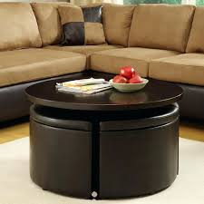 coffee table with four ottomans lift table with four storage ottomans coffee table with two ottomans