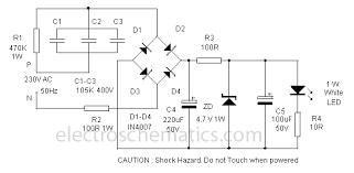 power led lamp power led lamp circuit diagram