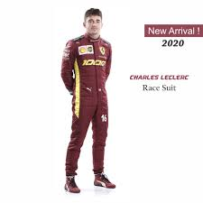 Charles Leclerc Sebastian Vettel Race Suit 2020 Replica Scuderia Ferra Dash Racegear