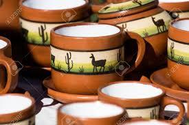 Ceramic In Local Market In Peru South America Stock Photo Picture
