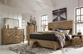 Ashley Furniture Grindleburg Panel Bedroom Set in Light Brown