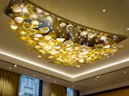 contemporary chandelier crystal blown glass