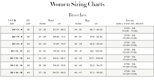 Smartpak Breeches Size Chart Piper Breeches By Smartpak Qualified Size Chart For Riding