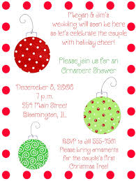 Christmas Ornament Wedding Shower Invite I Think I Would