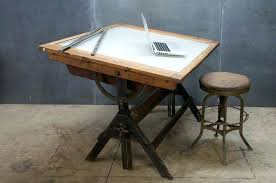 drafting light table vintage lamp for architects