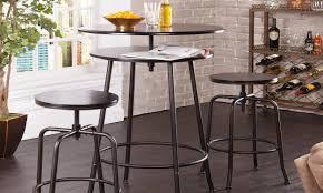 dark brown bar table & chairs