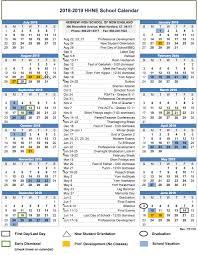 Calnedar 2018 2019 Calendar Hebrew High School Of New Englandhebrew High