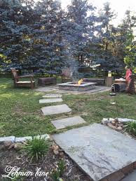 diy patio with fire pit. DIY : Stone Patio Fire Pit \u0026 Beam Benches Diy With