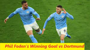 Phil Foden Goal vs Dortmund | 1-2 | Dortmund vs Man City | Quarter Final  2nd Leg - YouTube